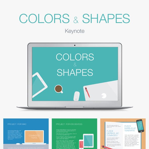 Colors & Shapes Keynote Template