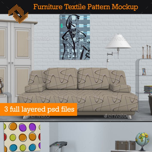 Furniture Textile Pattern Mockup