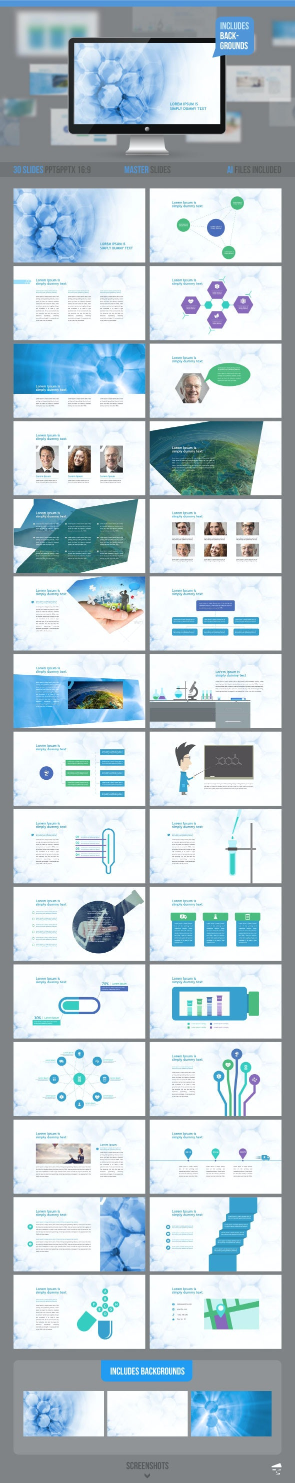 Medical Professional Presentation  - Abstract PowerPoint Templates