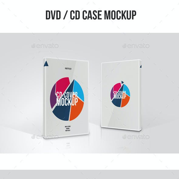 DVD / CD Case Cover Mock up