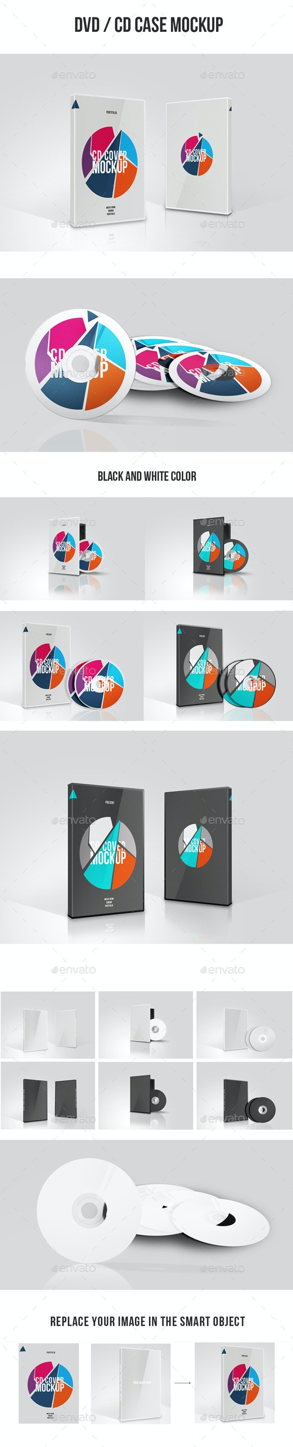 DVD / CD Case Cover Mock up - Product Mock-Ups Graphics