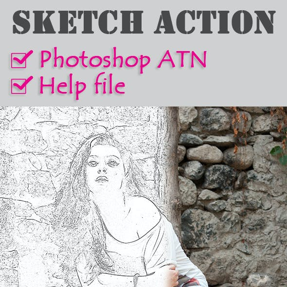 Photoshop Sketch Effect Action