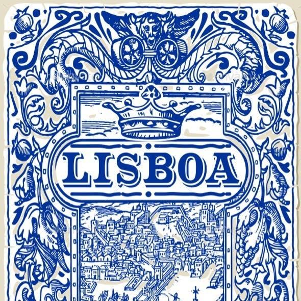 Traditional Tiles Azulejos Lisboa, Portugal
