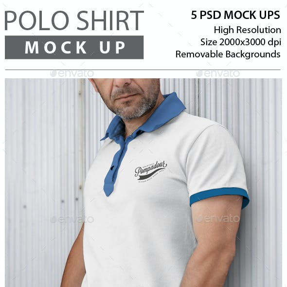 Man Polo Shirt Mock Up