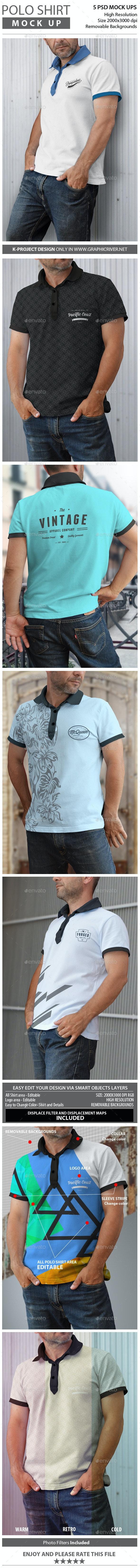 Man Polo Shirt Mock Up - T-shirts Apparel