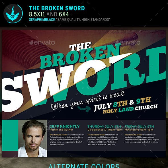 The Broken Sword Church Flyer Template