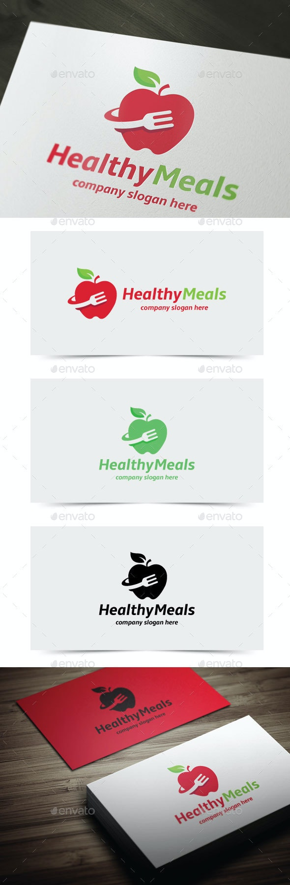 Healthy Meals - Objects Logo Templates