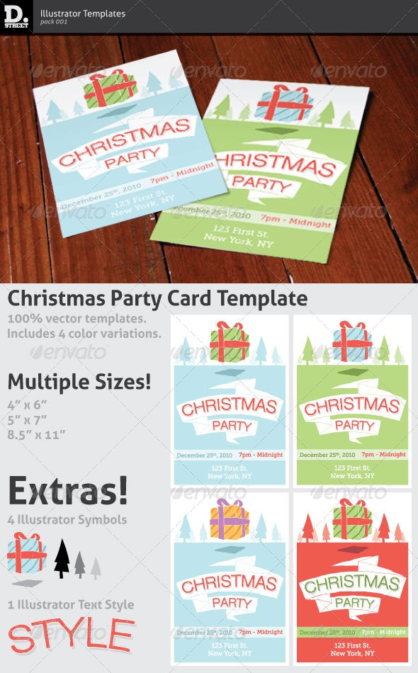 Christmas Party Card - Holidays Events