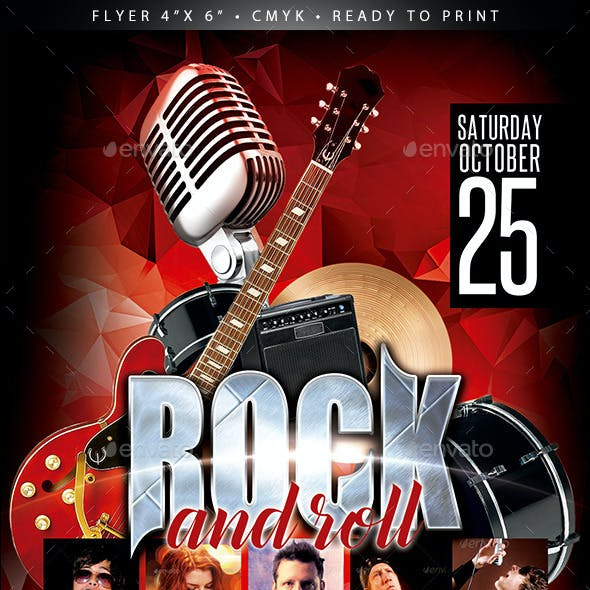 Rock and Roll  (Flyer Template 4x6)