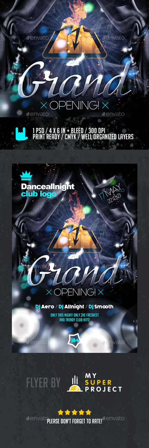 Grand Opening Club Flyer - Clubs & Parties Events