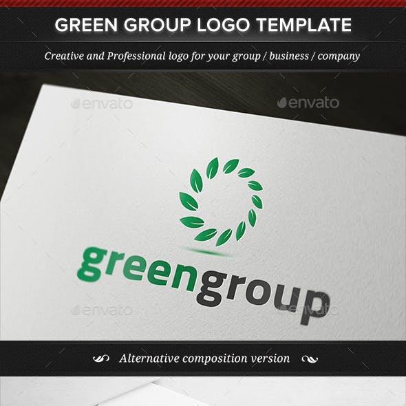 Green Group Logo Template