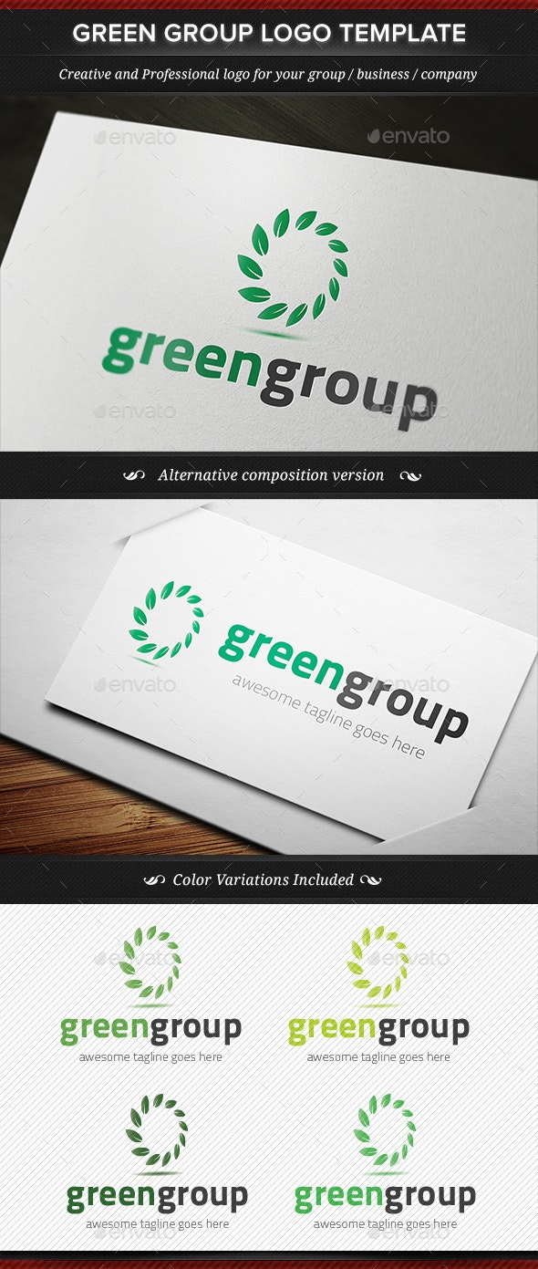 Green Group Logo Template