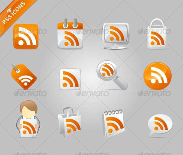 RSS icon set - Web Icons