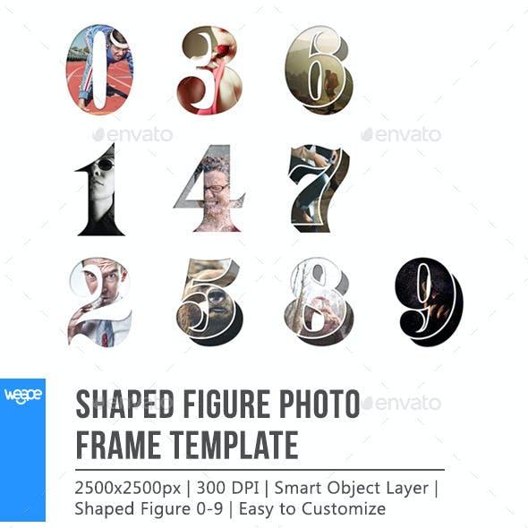 Shaped Figure Photo Frame Template
