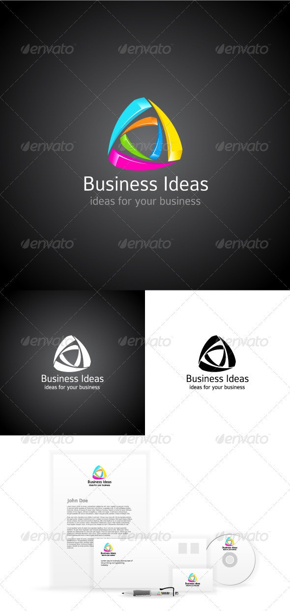 Business Ideas. Minimal Abstract Logo - Abstract Logo Templates