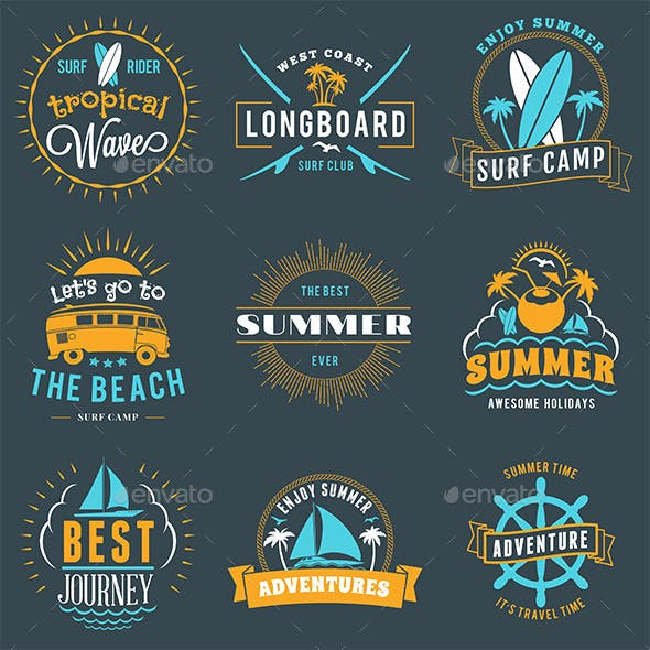 Summer Holiday Badges