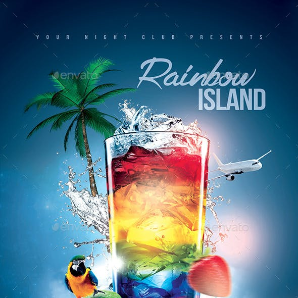 Rainbow Island Cocktail