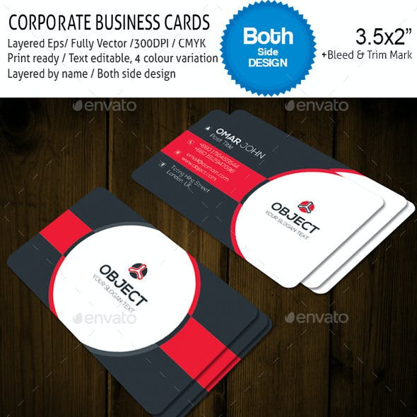 OBJECT v-003 Corporate Business Cards