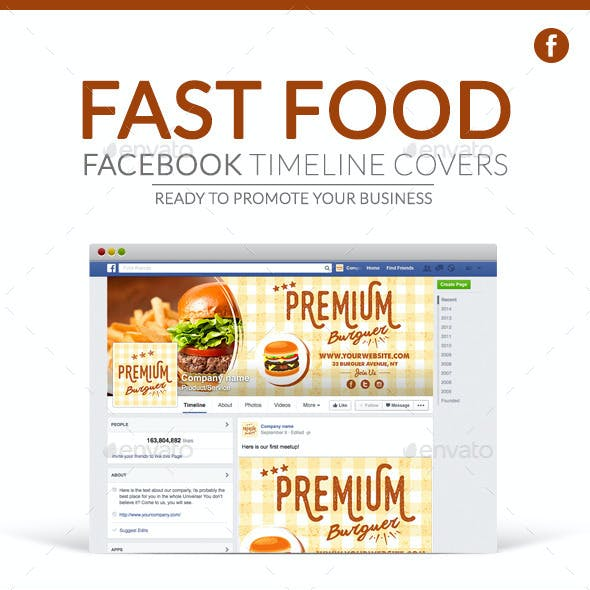 Facebook Timeline Covers - Fast Food