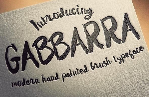 Gabbarra Script - Hand-writing Script