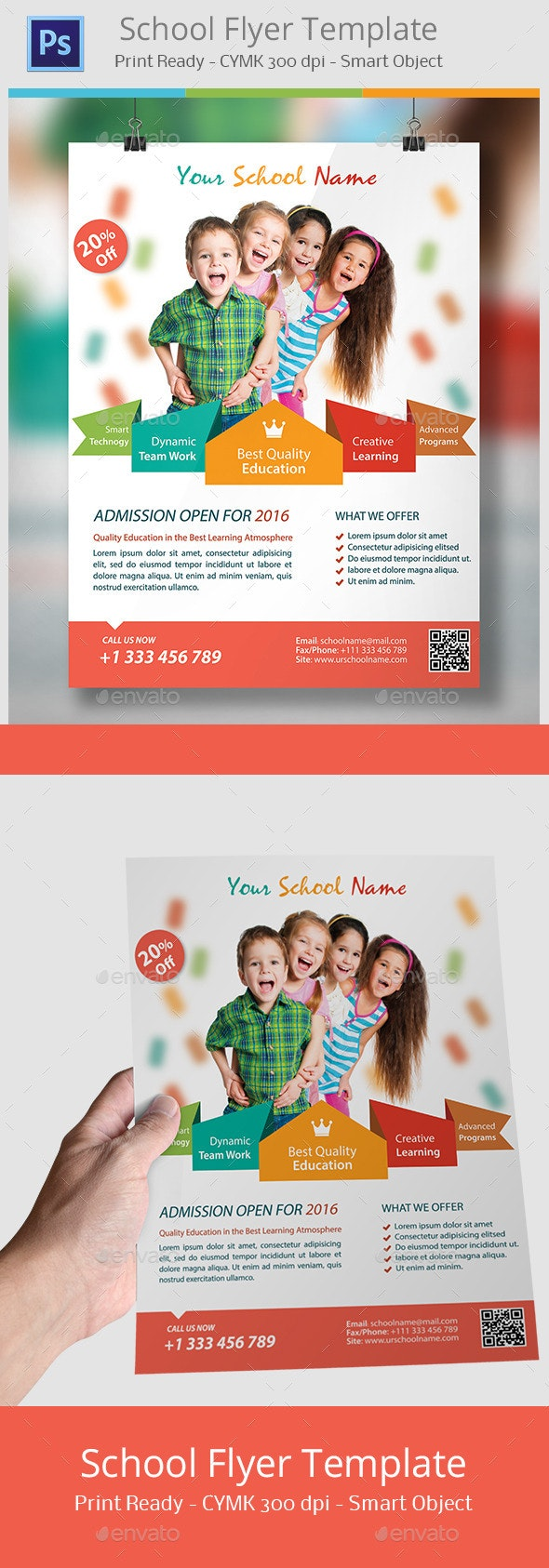 flyer flyers graphicriver brochure templates template schools preschool imgchili education promotion poster models leaflet examples graphic corporate photoshop marketing business