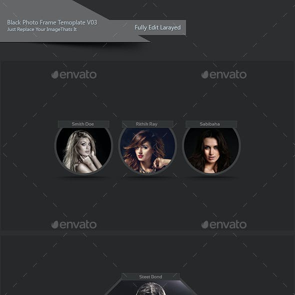 Black Photo Frame Template V03