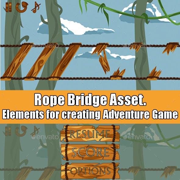 Rope Bridge Adventure Game Asset