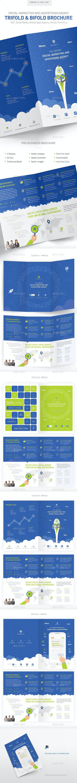 Digital Marketing & Advertising Agency Brochure - Brochures Print Templates