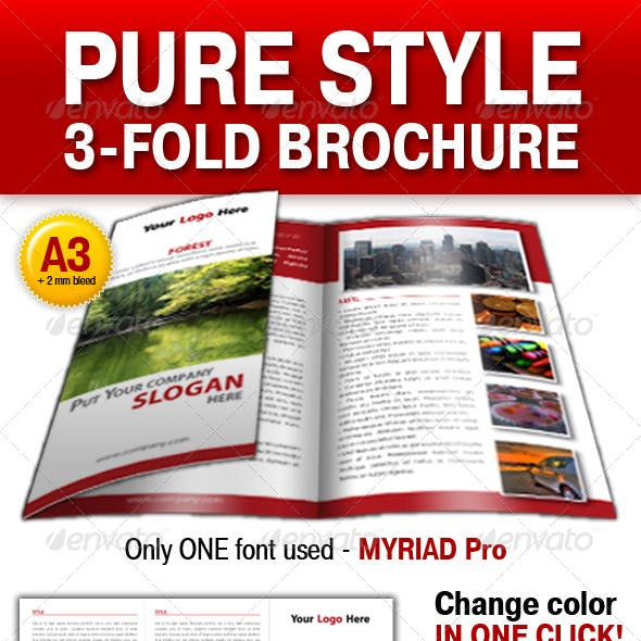 Pure Style 3-fold brochure