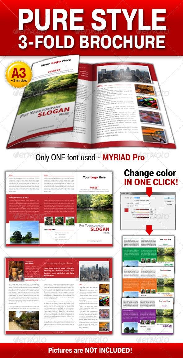 Pure Style 3-fold brochure - Corporate Brochures