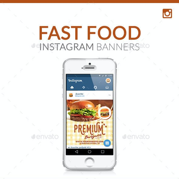 Instagram  Banners - Fast Food
