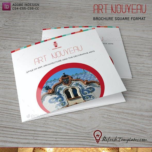Art Nouveau Square Brochure