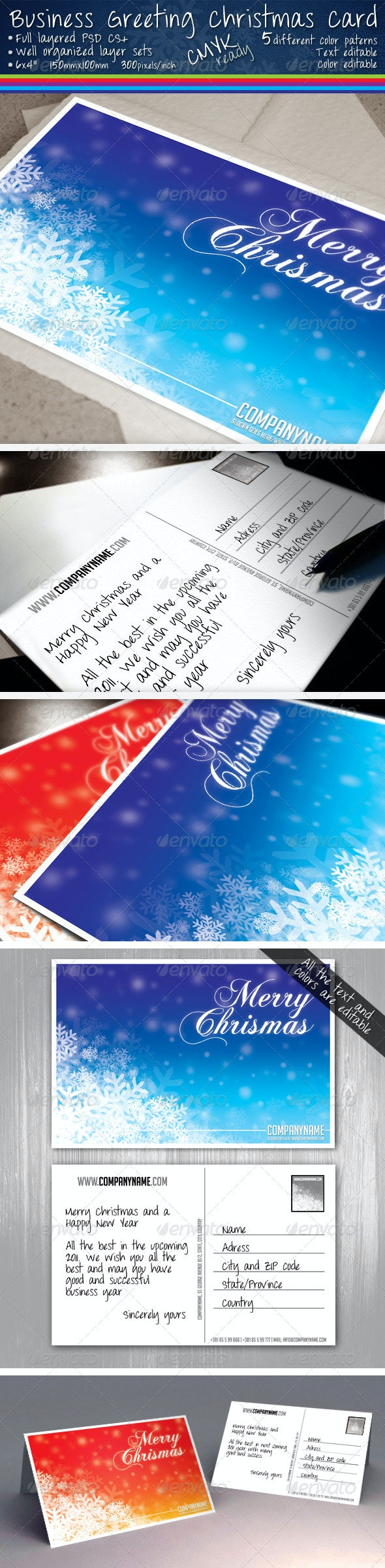 Company Greeting / Postcard - Holidays Events