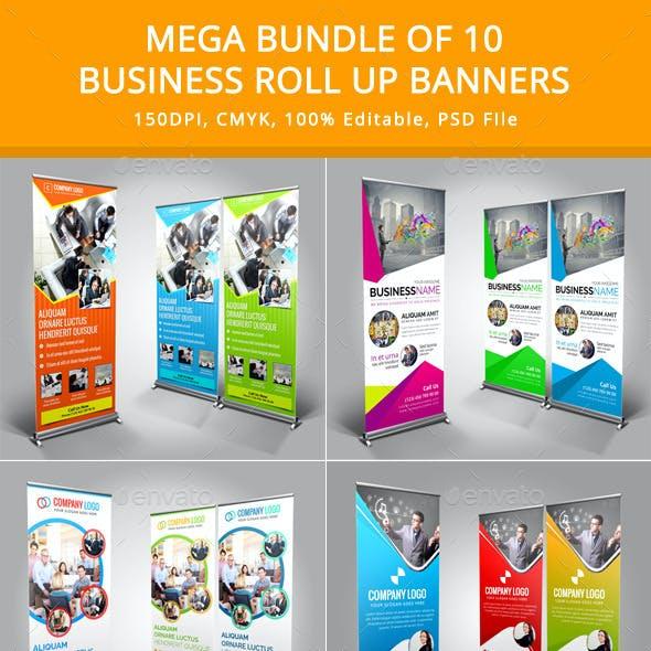 Mega Bundle of 10 Roll Up Banners