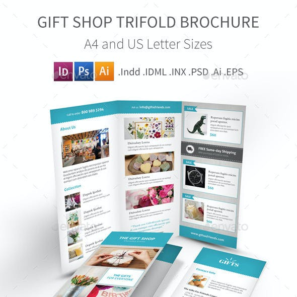 Gift Shop Trifold Brochure