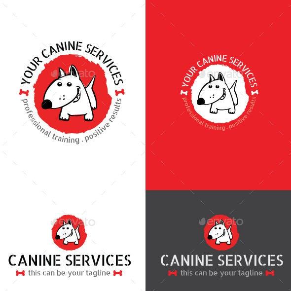 Dog or Pet Services Vector Logo