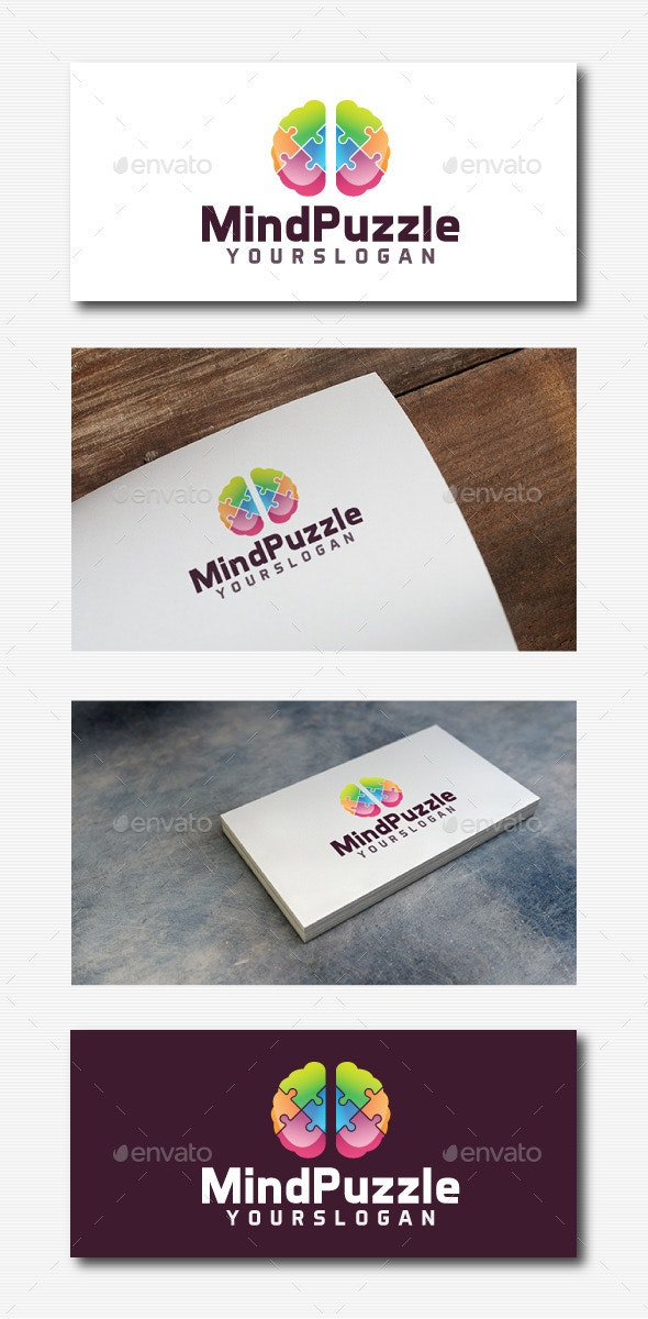 Mind Puzzle Logo - Abstract Logo Templates