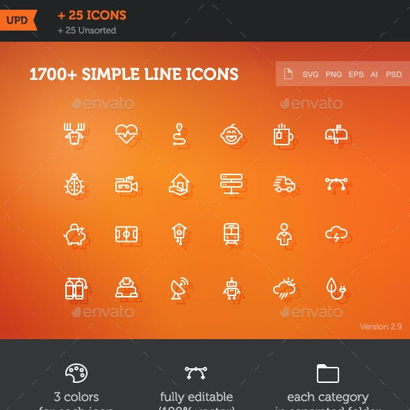 1700 Simple Line Icons