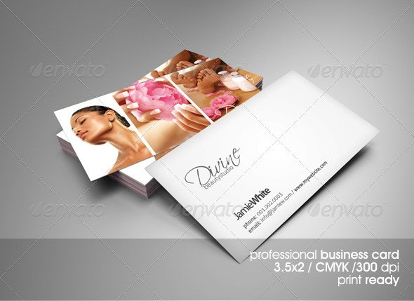 Beauty Studio Business Card - Industry Specific Business Cards