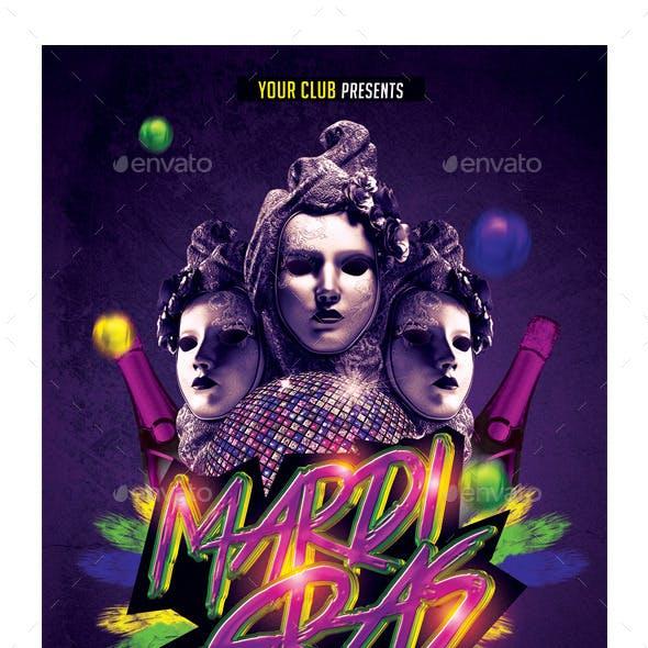 Mardi Gras Carnival Flyer
