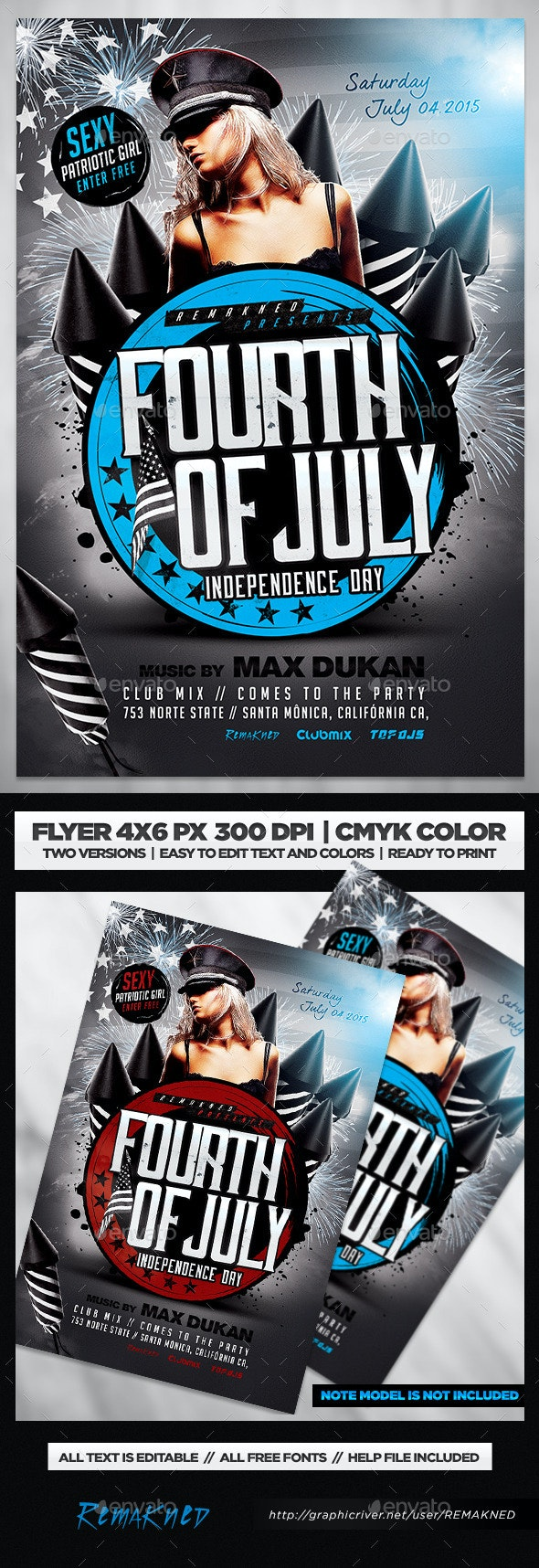 July 4th Flyer | Template PSD - Flyers Print Templates
