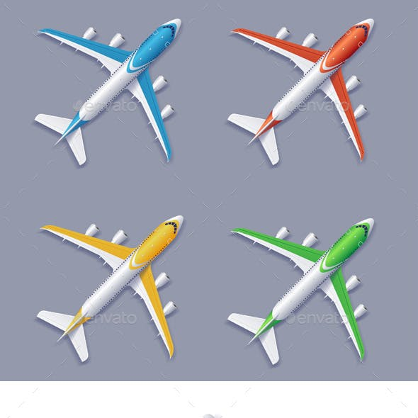 Vector Airplane Set