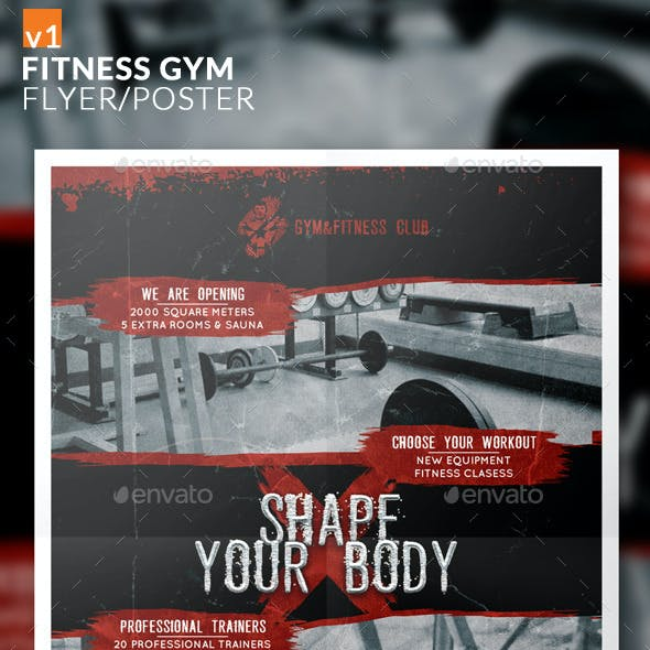 Fitness Gym Flyer/Poster