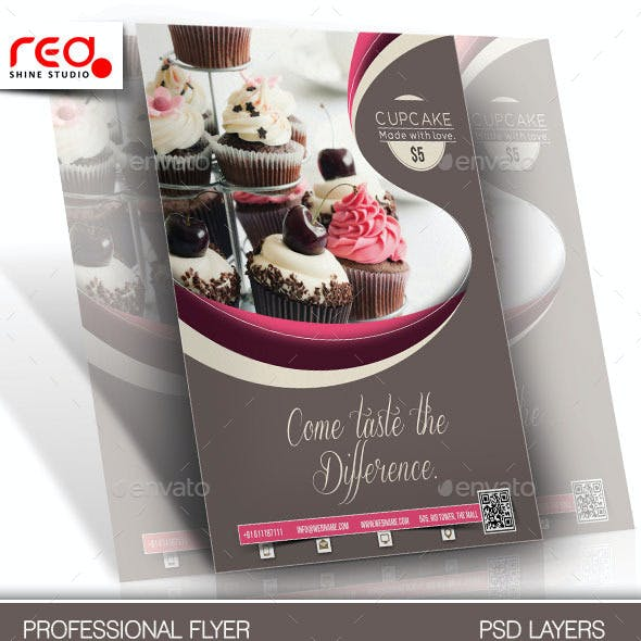 Cupcake Flyer & Poster Template - 1