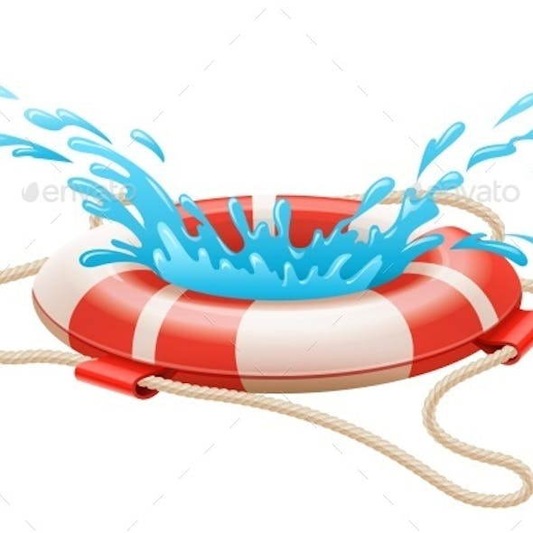 Life Buoy For Drowning Rescue on Water