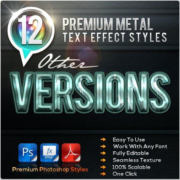 12 Premium Metal Other Versions