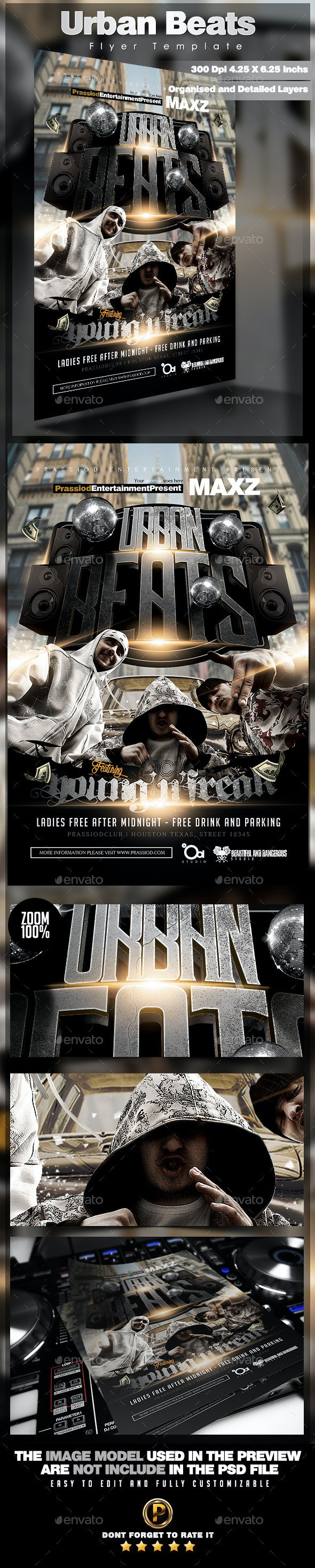 Urban Beats Flyer Template - Clubs & Parties Events