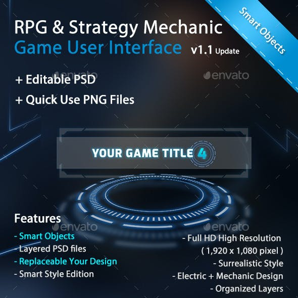 RPG & Strategy Mechanic Game User Interface