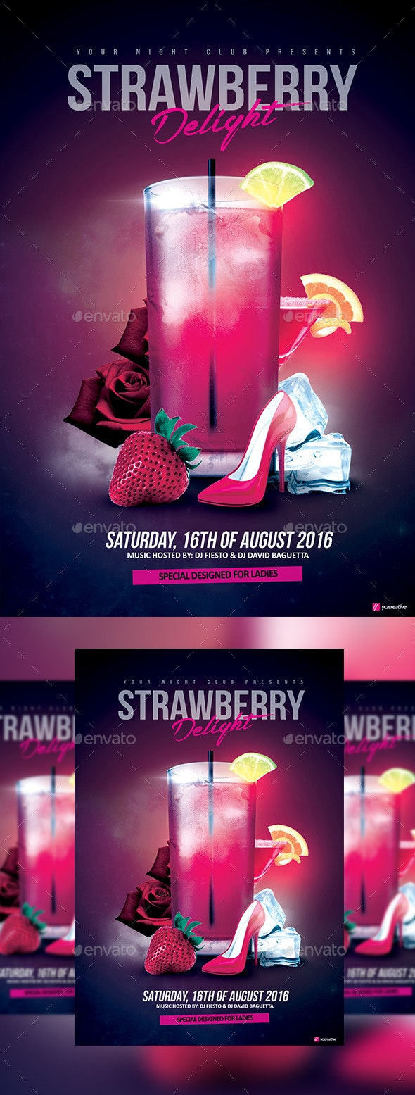 Strawberry Delight Cocktail - Clubs & Parties Events