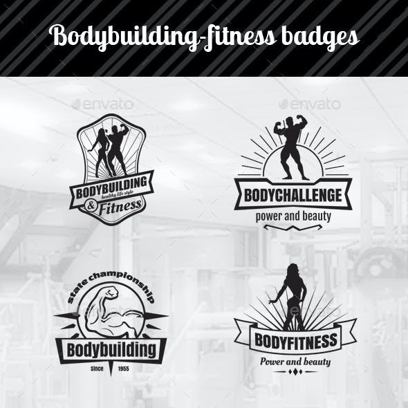 Bodybuilding Fitness Badges